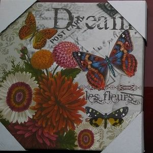 """Other - Beautiful Butterfly """"Dream"""" Wallhanging on Canvas"""